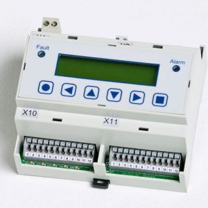 Four-channel gas measuring controller for continuous monitoring and warning of toxic, combustible and refrigerant gases and vapours.